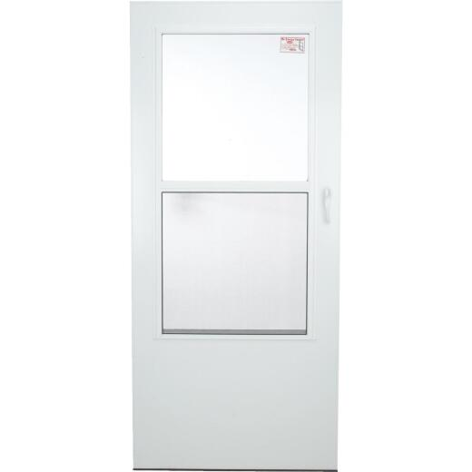 Larson Value-Core 36 In. W. x 80 In. H. x 1 In. Thick White Self-Storing Aluminum Storm Door