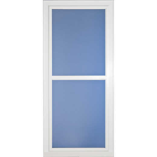 Larson Easy Vent 146 Series 32 In. W x 81 In. H x 1-7/8 In. Thick White Full View Aluminum Storm Door