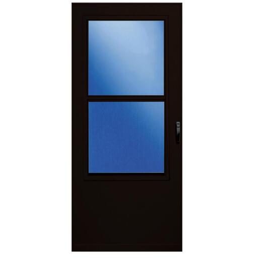 Larson Value-Core 36 In. W. x 80 In. H. x 1 In. Thick Brown Self-Storing Aluminum Storm Door