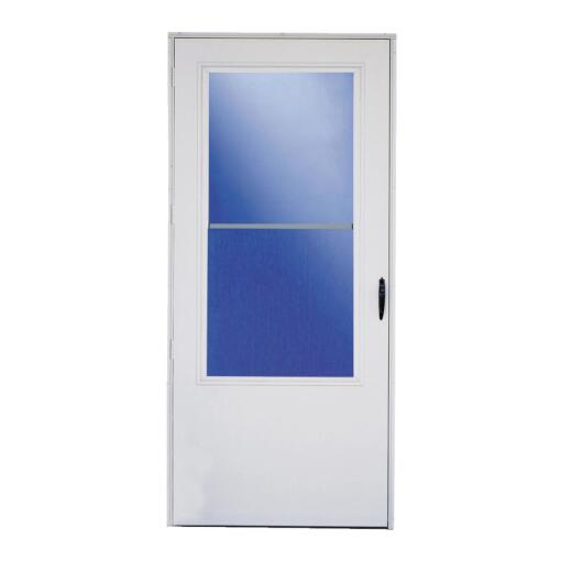 Larson Lifestyle MULTI-VENT 36 In. W. x 80 In. H. x 1 In. Thick White Mid View DuraTech Storm Door