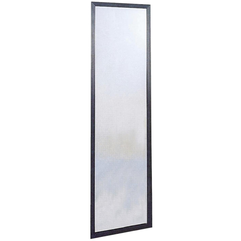 Home Decor Innovations Suave 13 In. x 49 In. Black Plastic Door Mirror Image 2