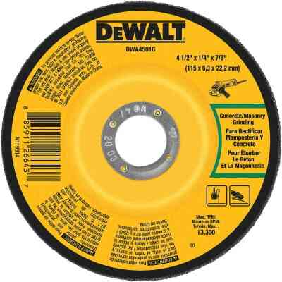 DeWalt HP Type 27 4-1/2 In. x 1/4 In. x 7/8 In. Masonry Cut-Off Wheel