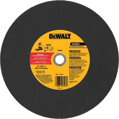 DeWalt HP Type 1 14 In. x 7/64 In. x 1 In. Metal Studs Cut-Off Wheel