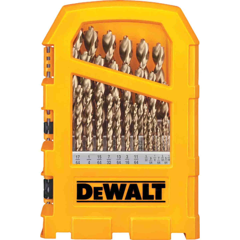 DeWalt 29-Piece Gold Ferrous Pilot Point Drill Bit Set, 1/16 In. thru 9/32 In. Image 1