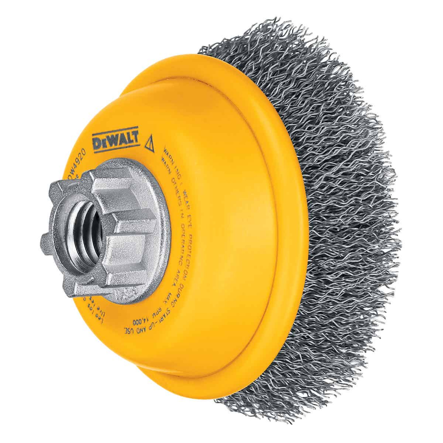DeWalt 3 In. Crimped 0.014 In. Angle Grinder Wire Brush Image 1