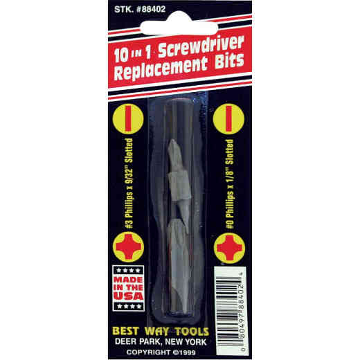 Best Way Tools Phillips 10-in-1 Replacement Double End Screwdriver Bit