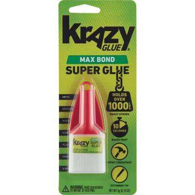 Krazy Glue 0.18 Oz. Liquid Maximum Bond Super Glue with Precision Tip