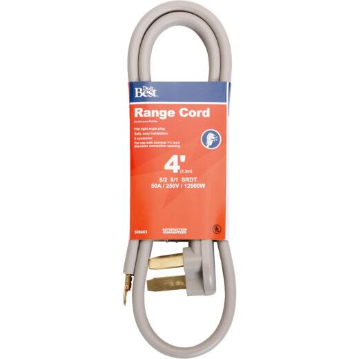 Do it Best 4 Ft. 6/2 + 8/1 Ga. 3-Conductor Range Cord