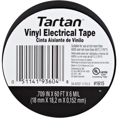3M Tartan General Purpose 3/4 In. x 60 Ft. Vinyl Plastic Electrical Tape