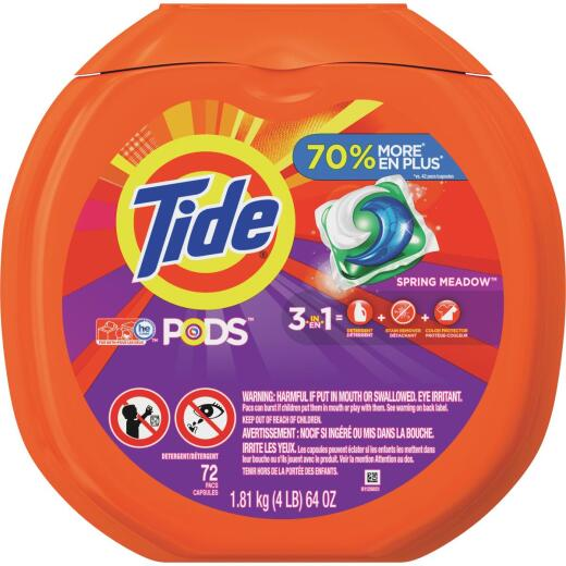 Tide Pods Liquid Laundry Detergent (72-Count)
