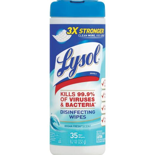 Lysol Ocean Fresh Disinfecting Wipes (35 Count)