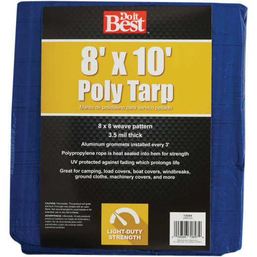 Do it Best Blue Woven 8 Ft. x 10 Ft. General Purpose Tarp