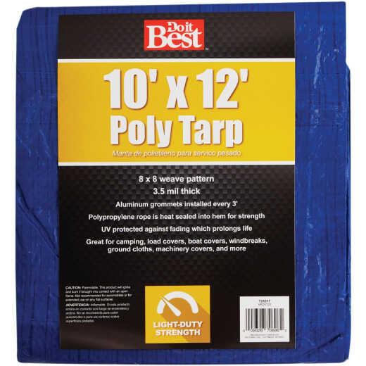 Do it Best Blue Woven 10 Ft. x 12 Ft. General Purpose Tarp