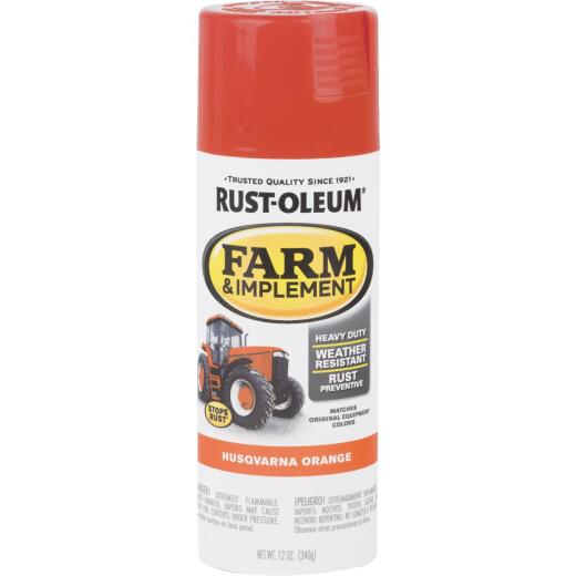 Rust-Oleum 12 Oz. Husqvarna Orange Farm & Implement Spray Paint