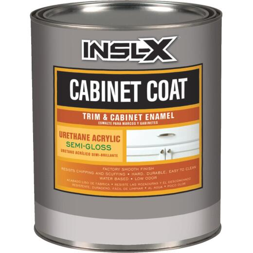 Insl-X 1 Qt. White Semi-Gloss Satin Cabinet Coating