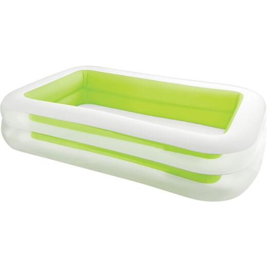 Intex 69 In. W. x 103 In. L. x 22 In. D. Green Vinyl Family Inflatable Swimming Pool